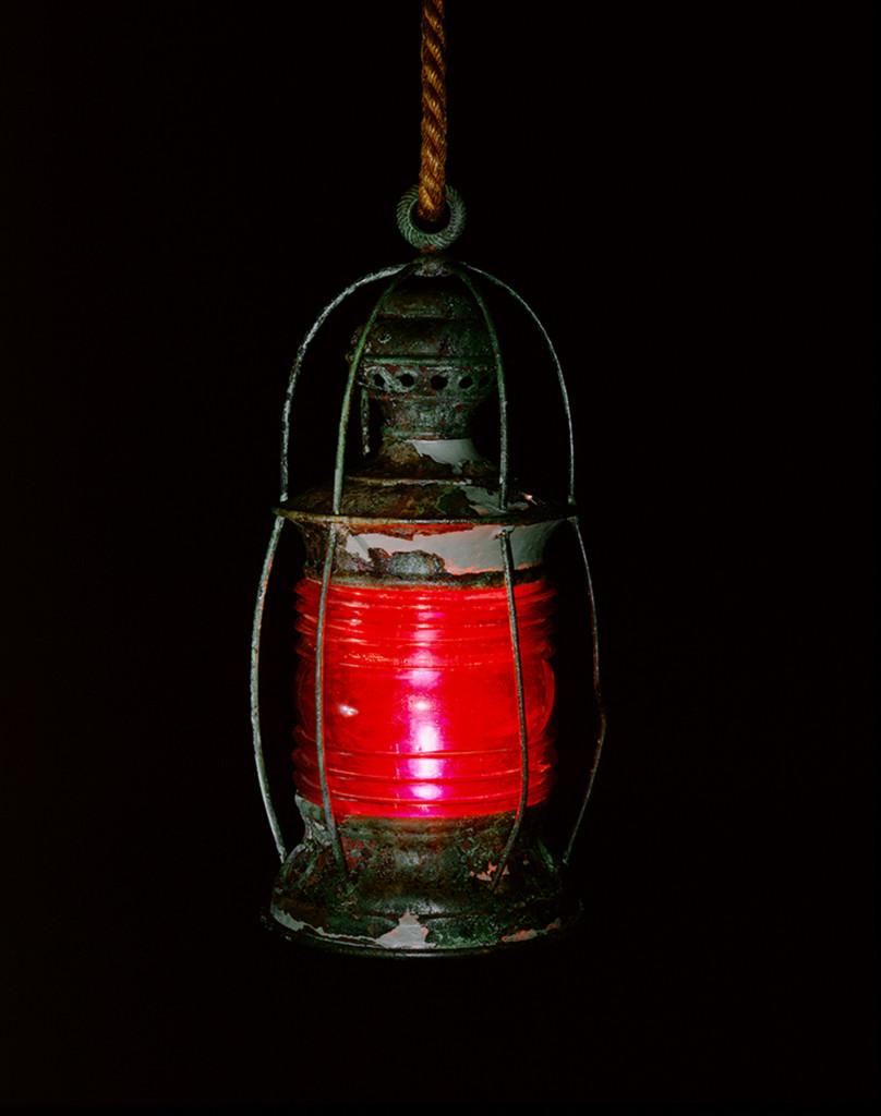 USS Monitor's red signal lantern