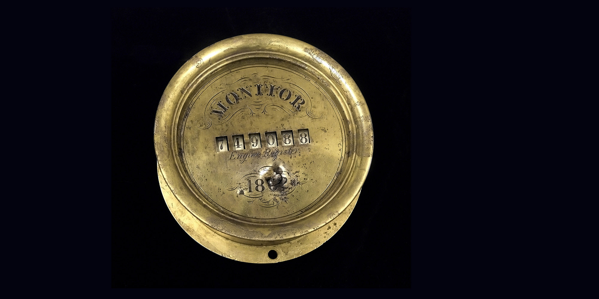 The USS Monitor's engine register, recovered in 2001